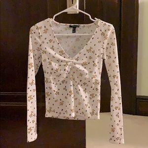 Forever 21 white long sleeved shirt